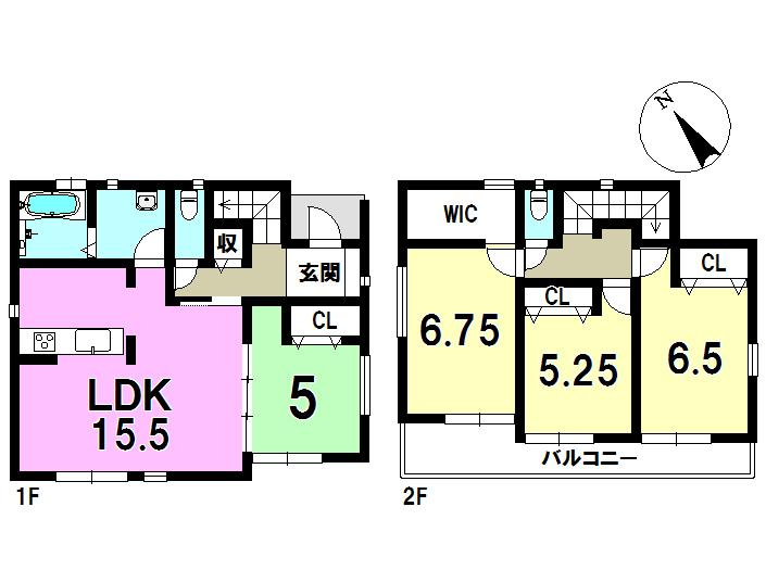 2号棟 4LDK+S 土地面積206.08㎡ 建物面積96.88㎡
