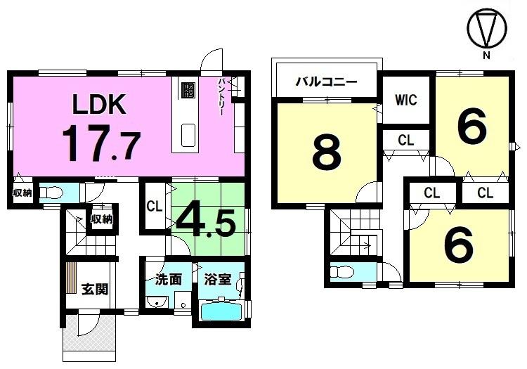 南向きのLDKは光あふれる暖かなお部屋。ご家族の憩いの場にぴったりですね。豊富に確保した収納スペースやキッチンを是非ご覧下さい
