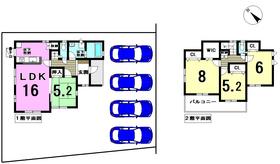 ブルーミングガーデン稲沢市平和町 全1棟 新築一戸建て