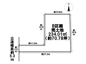 あま市中萱津南ノ川 全2区画 B区画 建築条件なし土地