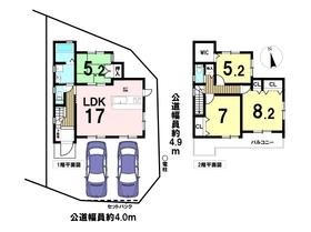 ○あま市七宝町下田四反割第1 全1棟 新築一戸建て