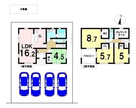 クレイドルガーデン愛西市大井町第1 全6棟 6号棟 新築一戸建て