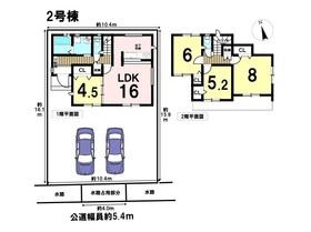 あま市七宝町下田江東本町18期 全4棟 2号棟 新築一戸建て