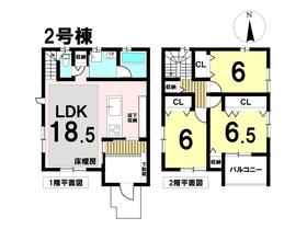 戸田1期 名古屋市中川区戸田明正2丁目 全3棟 2号棟 新築一戸建て