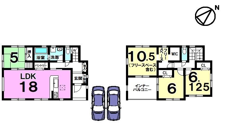 住宅性能評価書取得住宅 耐震構造 土地広々72坪 オール電化 並列駐車2台可 前道約6m
