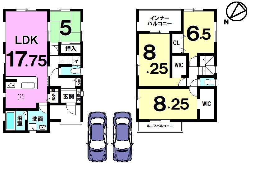 全5区画分譲地内 住宅性能評価書取得住宅 耐震構造 約72坪 オール電化 並列駐車2台可