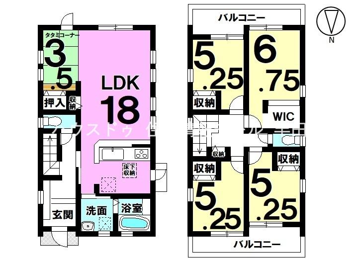 2階4部屋 ご家族それぞれのプライベート空間を確保できる4LDK