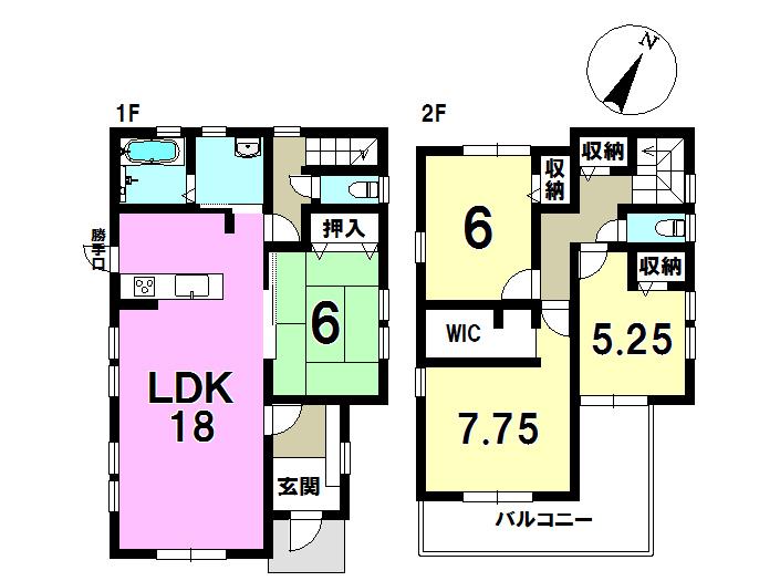 2号棟 4LDK+S 土地面積165.32㎡ 建物面積106.00㎡