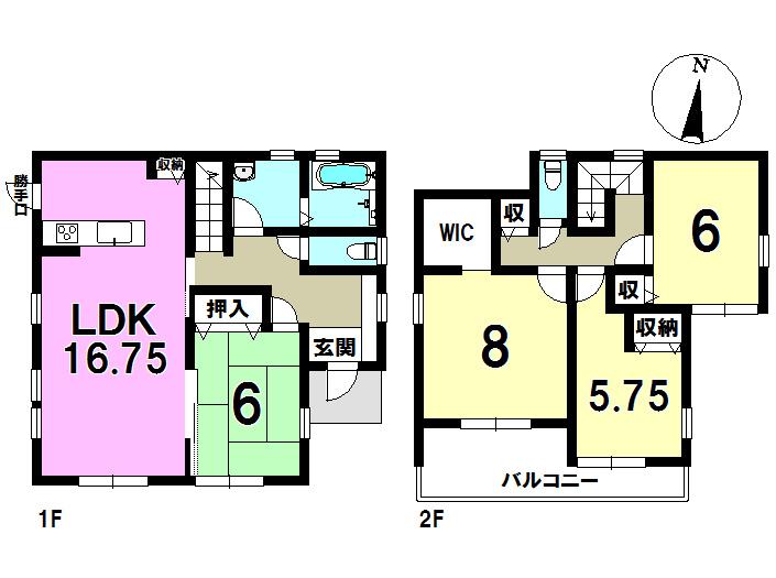 2号棟 4LDK+S 土地面積303.16㎡ 建物面積105.06㎡