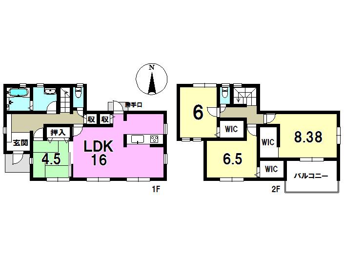 3号棟 4LDK+S 土地面積270.49㎡ 建物面積106.01㎡