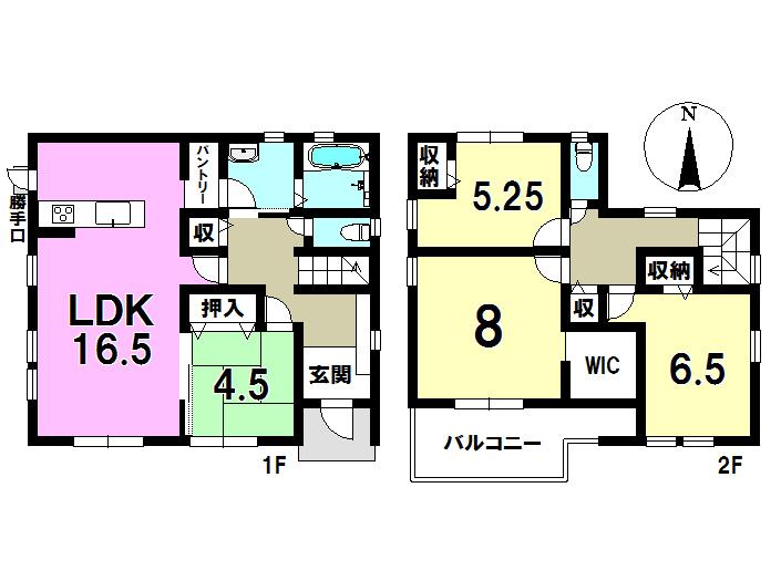 4号棟 4LDK+S 土地面積202.62㎡ 建物面積106.00㎡
