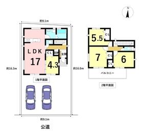 グラファーレ名古屋市港区西川町2丁目 全1棟 新築一戸建て