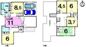 【間取り】 RC構造・オール電化住宅・6LDK!普通車2台駐車可能!現在賃貸中!年間約180万円の収入有!
