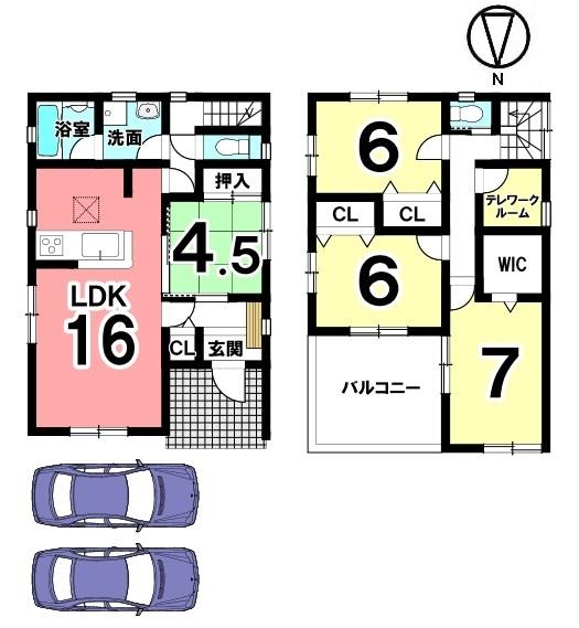 2階のテレワークルームはお子様のオンライン授業などにも活用できる嬉しいスペース。納戸としてもご利用頂けます。