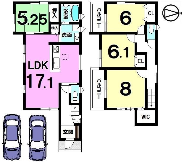 全室南向きの光あふれる物件です。全室に収納スペースを確保。駐車2台可能です。