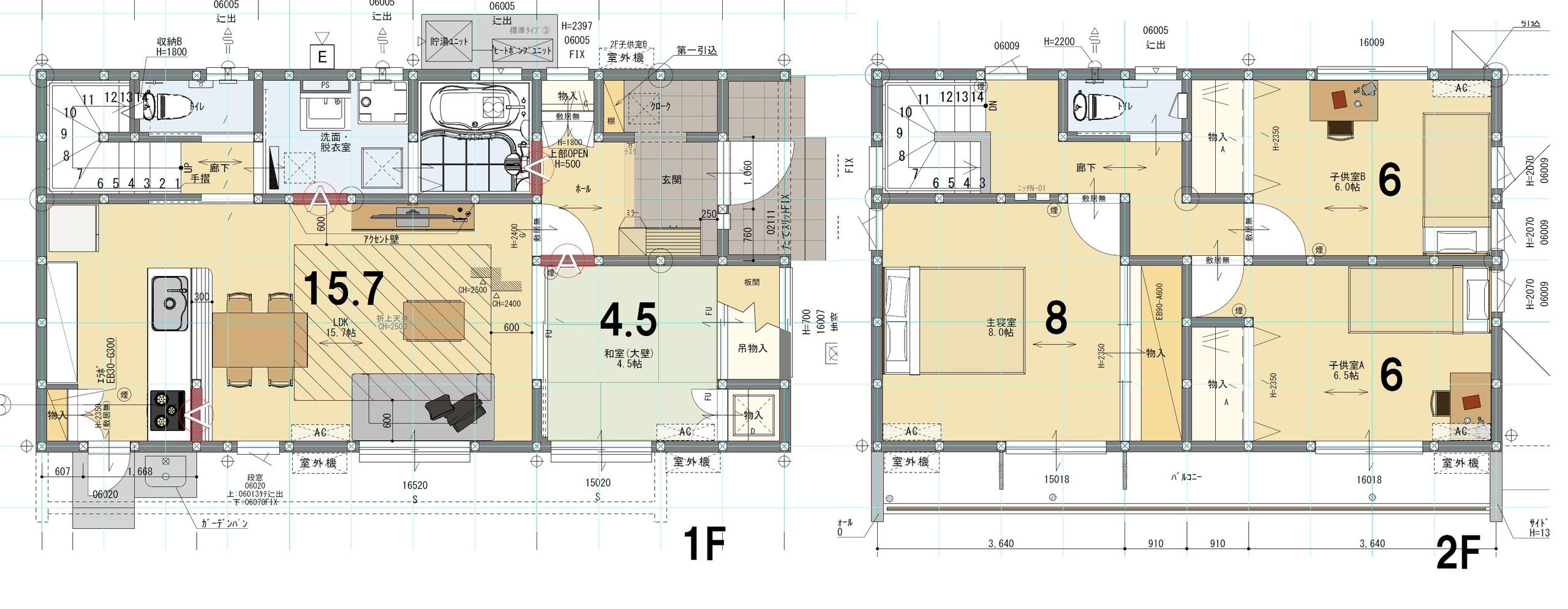 A棟 4LDK 土地面積191.62㎡ 建物面積106.83㎡