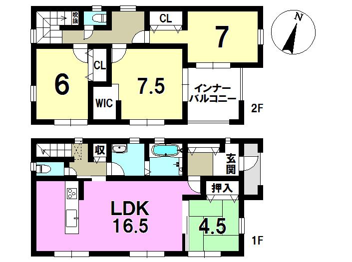 1号棟 4LDK+S 土地面積215.83㎡ 建物面積111.37㎡