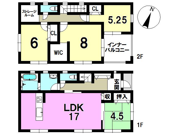 2号棟 4LDK+S 土地面積215.83㎡ 建物面積112.62㎡
