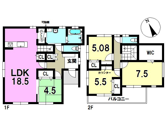 5号棟 4LDK+S 土地面積212.87㎡ 建物面積106.83㎡