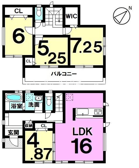 土地面積68.87坪の敷地にゆったりと建てられた4LDK 夢のマイホームにいかがでしょうか♪