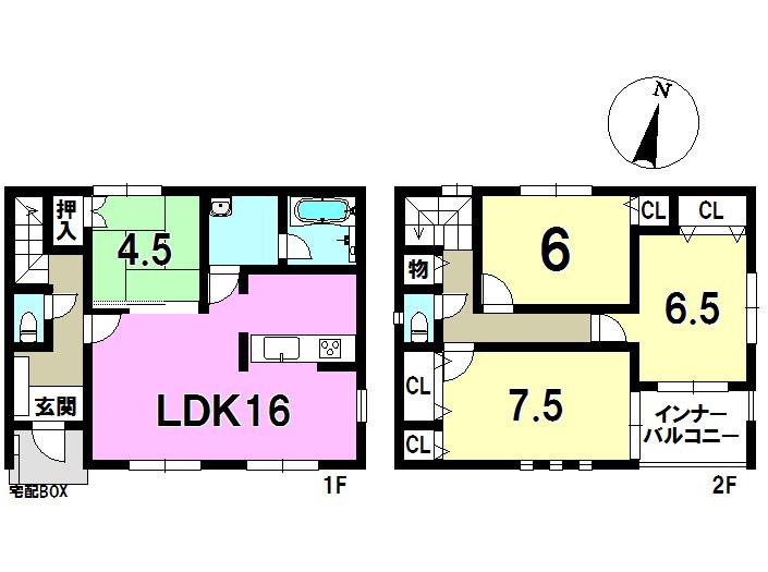 2号棟 4LDK 土地面積279.96㎡ 建物面積95.58㎡