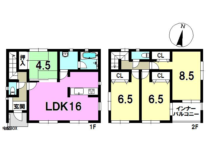 3号棟 4LDK 土地面積260.27㎡ 建物面積95.58㎡