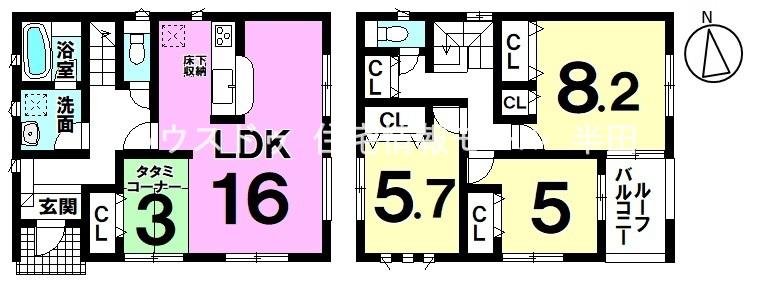 ◆角地♪全居室2面採光◆ まずは資料請求から♪ハウスドゥ半田までお気軽にお問合せ下さい