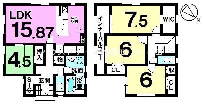 【名鉄常滑線 大野駅 徒歩6分】家族が繋がるリビング階段の住まい♪