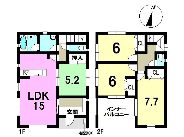 3号棟 4LDK 土地面積184.48㎡ 建物面積95.57㎡