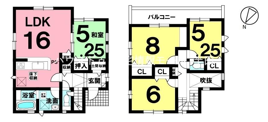 全居室収納付 全居室2面採光 4LDK!