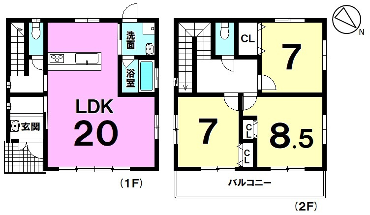 【浦添市西原1丁目】2021年12月完成予定!2階建て3LDK!土地面積約138平米!駐車2台可能!