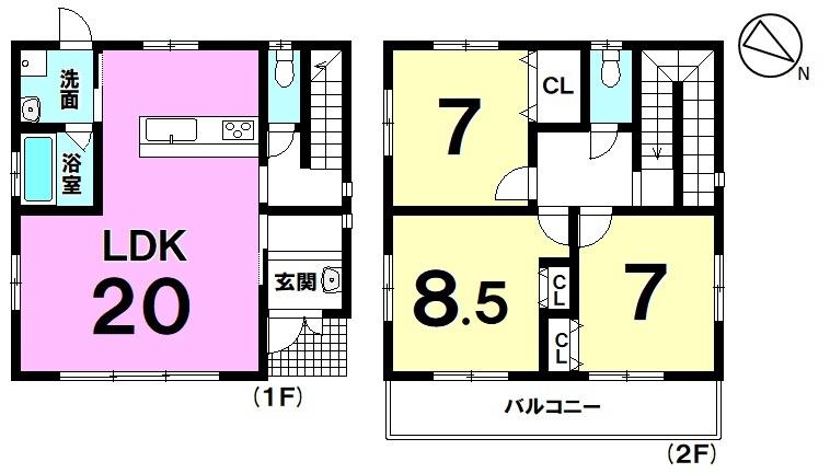 【浦添市西原1丁目】2021年12月完成予定!2階建て3LDK!土地面積約160平米!駐車3台可能!