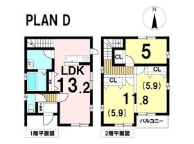 あま市森6丁目 全4棟 D号棟 新築一戸建て