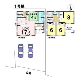 Livele Garden.s中川区富田町千音寺第三 全3棟 1号棟 新築一戸建て