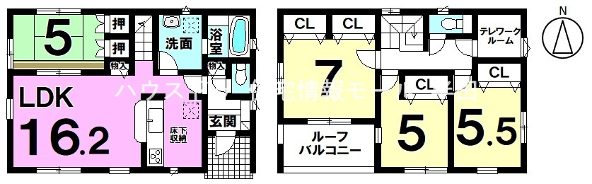 【3LDK】主寝室には2ヵ所に分けられた使い勝手の良いクローゼットあり♪