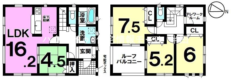 【常滑市榎戸町5丁目 4LDK・新築戸建】 リモートワークもらくらくテレワークルームあり♪