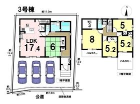 あま市甚目寺郷中2期 全4棟 3号棟 新築一戸建て