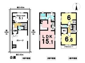ミラスモ 名古屋市熱田区神野町 全1棟 新築一戸建て