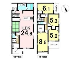 津島市愛宕町2期 6号棟 全7棟 新築一戸建て