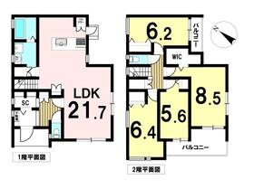 津島市愛宕町2期 7号棟 全7棟 新築一戸建て